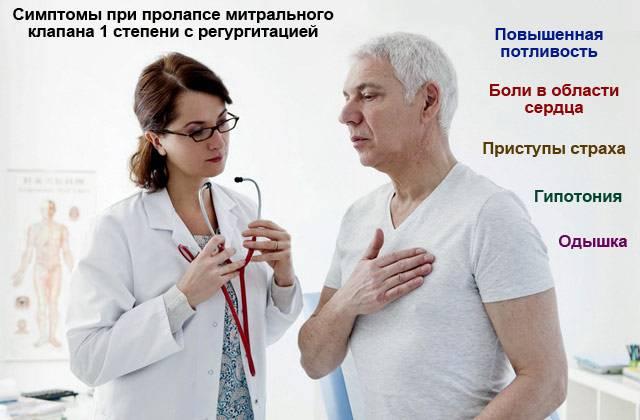 симптомы пролапса митрального клапана 1 степени с регургитацией