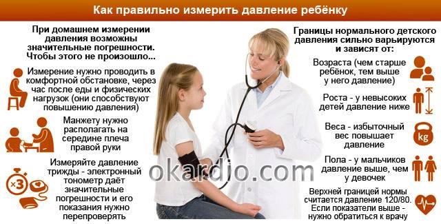 правила измерения давления ребёнку