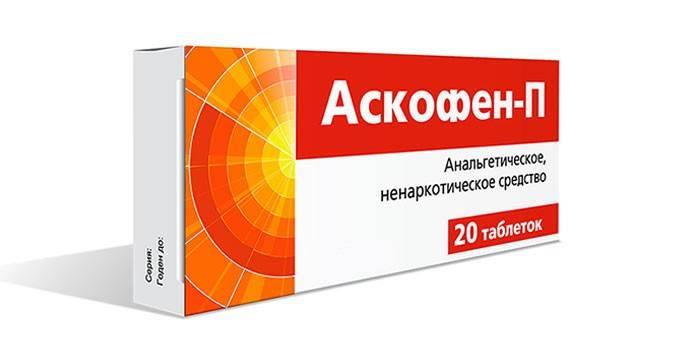 Таблетки Аскофен в упаковке