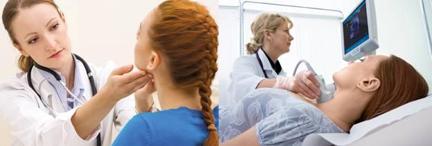 УЗИ и пальпация щитовидной железы