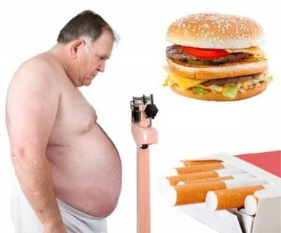 Курение, неправильное питание, ожирения - причины возникновения стенокардии