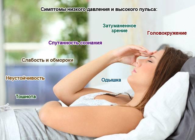 симптомы низкого давления и высокого пульса